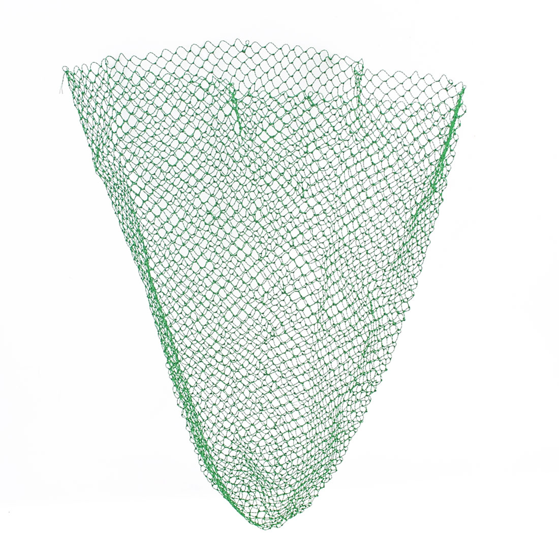 "24.4"" Length Green Foldable Nylon Fish Lobster Fishing Landing Net"