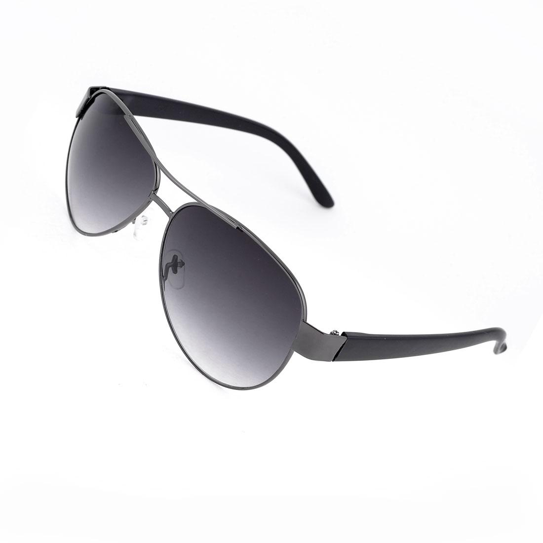 Dark Gray Waterdrop Lens Full Frame Double Bridge Sports Sunglasses for Men
