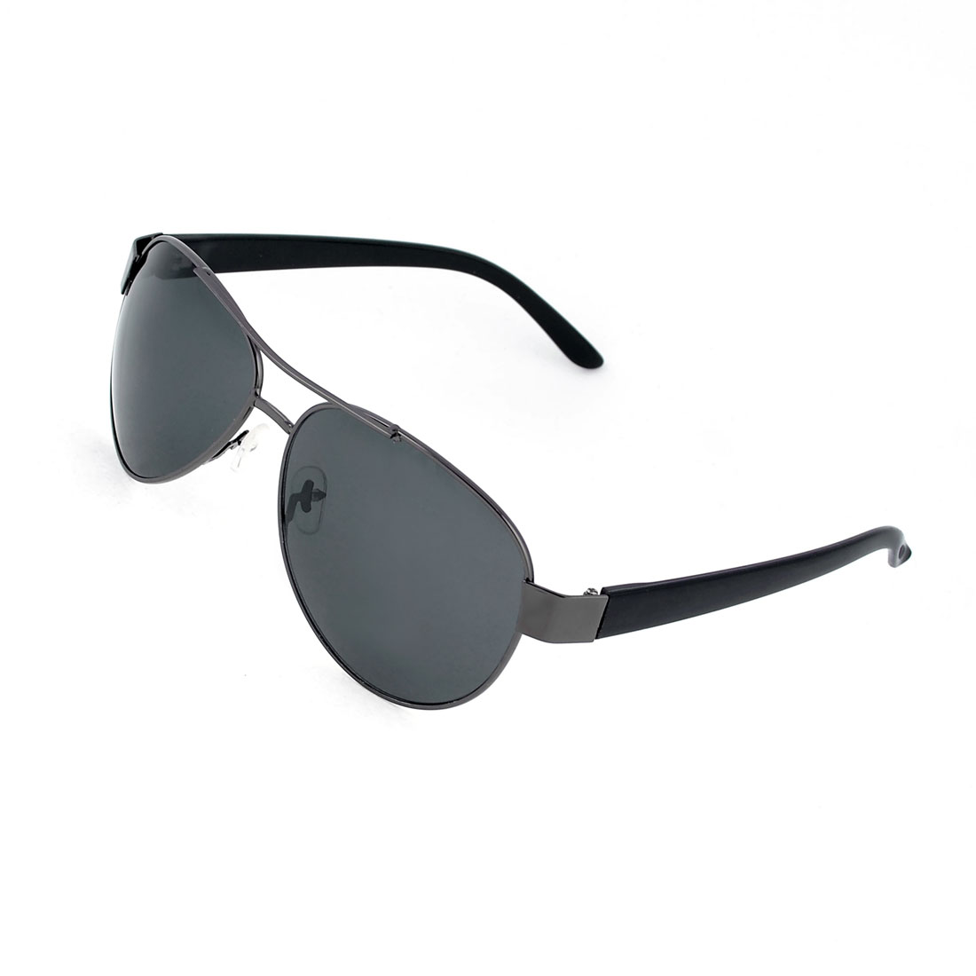 Man Fishing Camping Metal Rim Black Lens Plastic Arms Eyes Protective Sunglasses