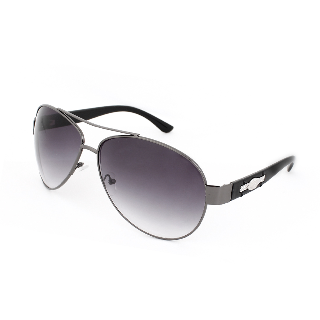 Colored Tear Drops Len Oval Shaped Metal Inlaid Arm Sunglasses for Men