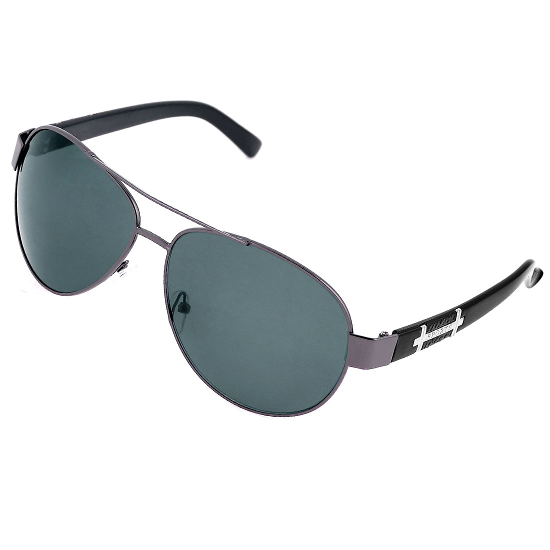 Water Drop Lens Dual Bridge Metal Full Frame Rim Sunglasses for Men