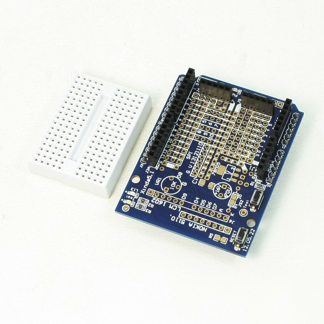 Mega Rectangle Shape Protoshield Expansion Board + Mini Breadboard