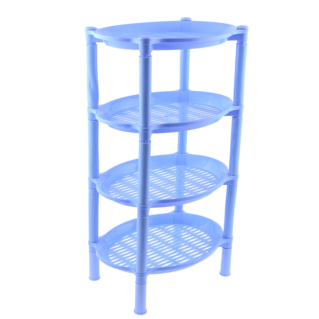 "20"" High Detachable Oval Design Cyan Plastic Mini Storage Shelf Rack"
