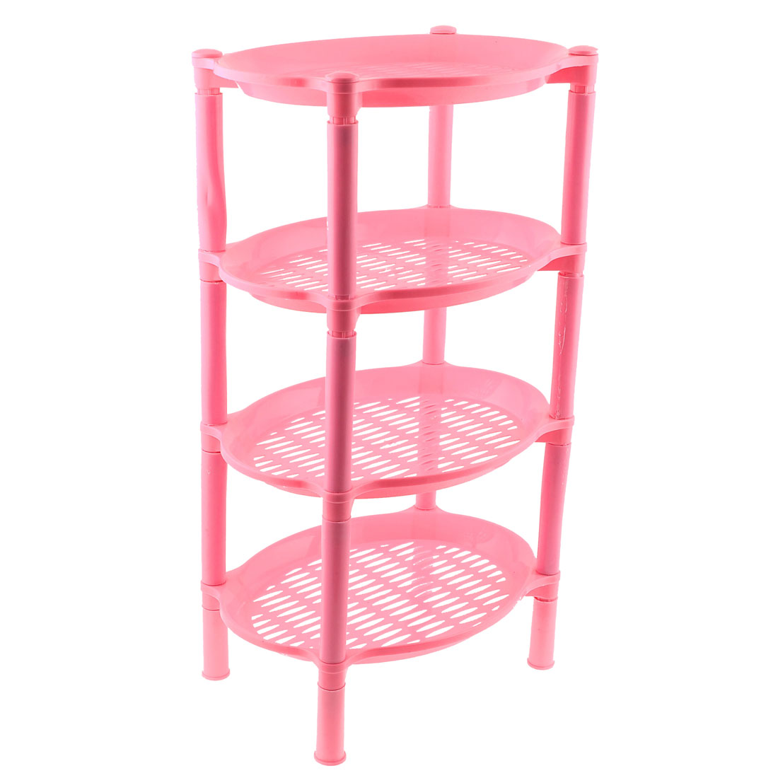 "20"" High Detachable Oval Shape Pink Plastic Mini Storage Shelf Rack"