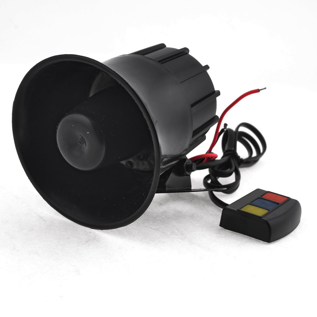 30W DC 12V Black Plastic Auto Car Motorbike Speaker Black Warn Loud Horn Trumpet