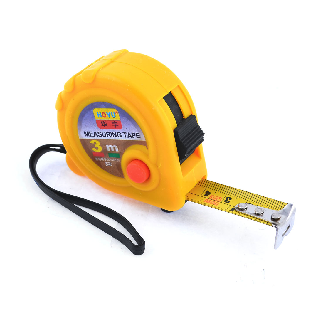Yellow Case Manual Lock 3 Meters Pocket Steel Measuring Tape Bandtape Tapeline