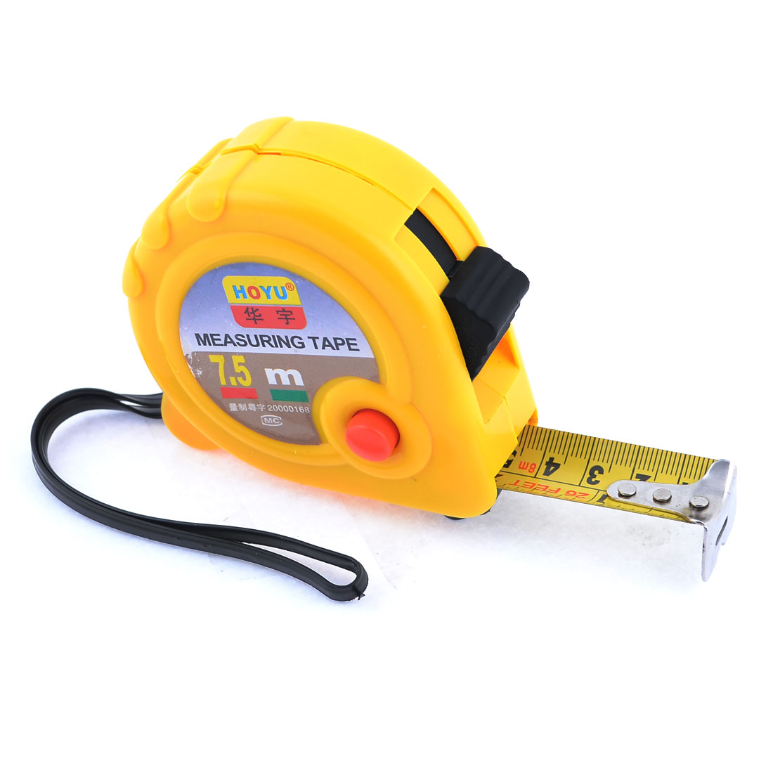 Yellow Case Manual Lock 7.5 Meters Pocket Steel Measuring Tape Bandtape