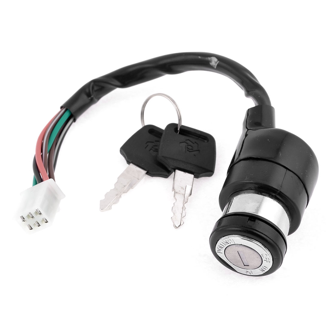Key Switch 6 Wires Male Connector Moped Electric Motorcycle Bike Lock for GN125