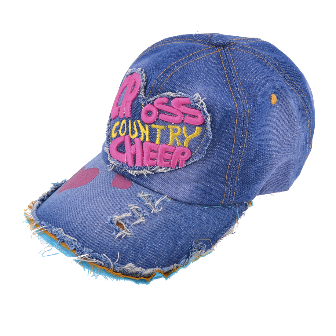 Man Letter Print Blue Denim Baseball Ball Cap Hat