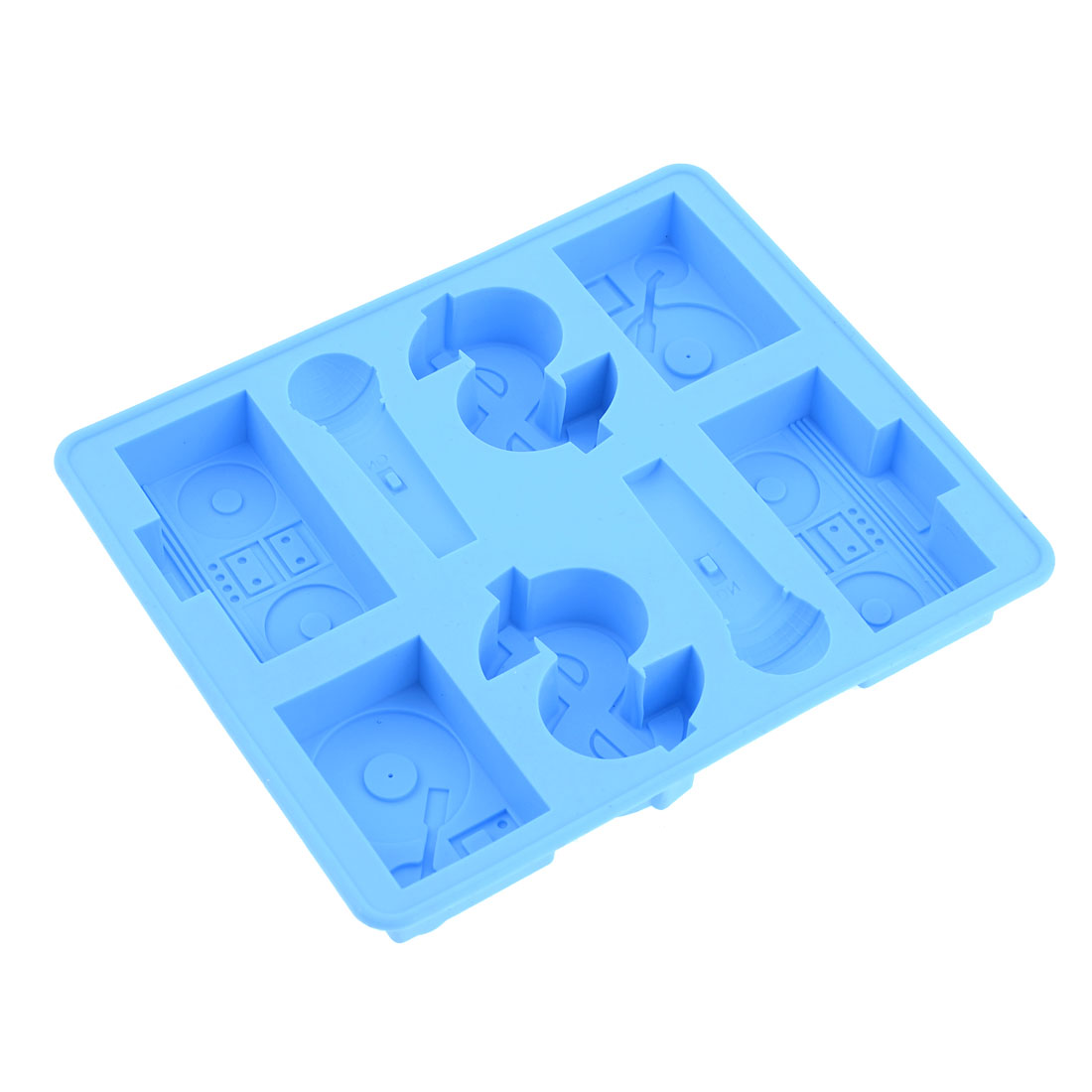 Cyan 8 Differnt Containers Rubber Dessert Ice Mold Maker Tray