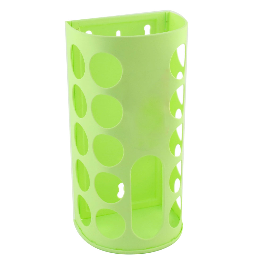 Household Portable Plastic Bag Extraction Storage Box Case Holder Lime