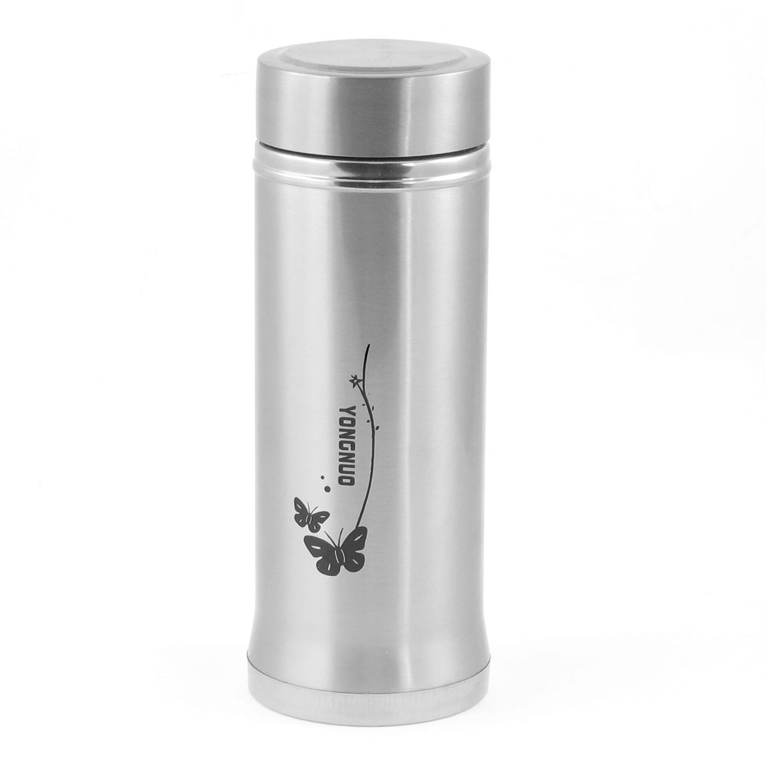 Portable Inside Tea Strainer Filter Butterfly Print 380ml Vacuum Warm Bottle Cup