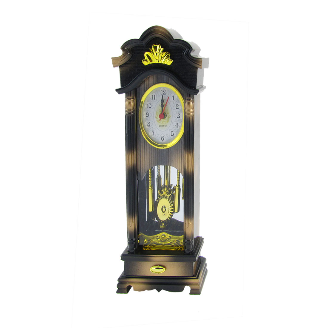 Adjustable Plastic Figural Designs Table Standing Clock Black Beige