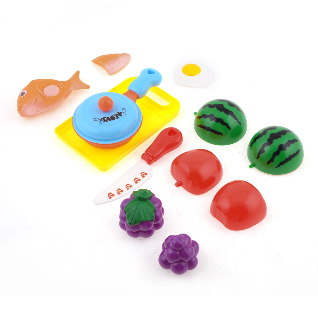 Multicolor Plastic Fruit Food Kitchenware Pretend Play Toy for Children