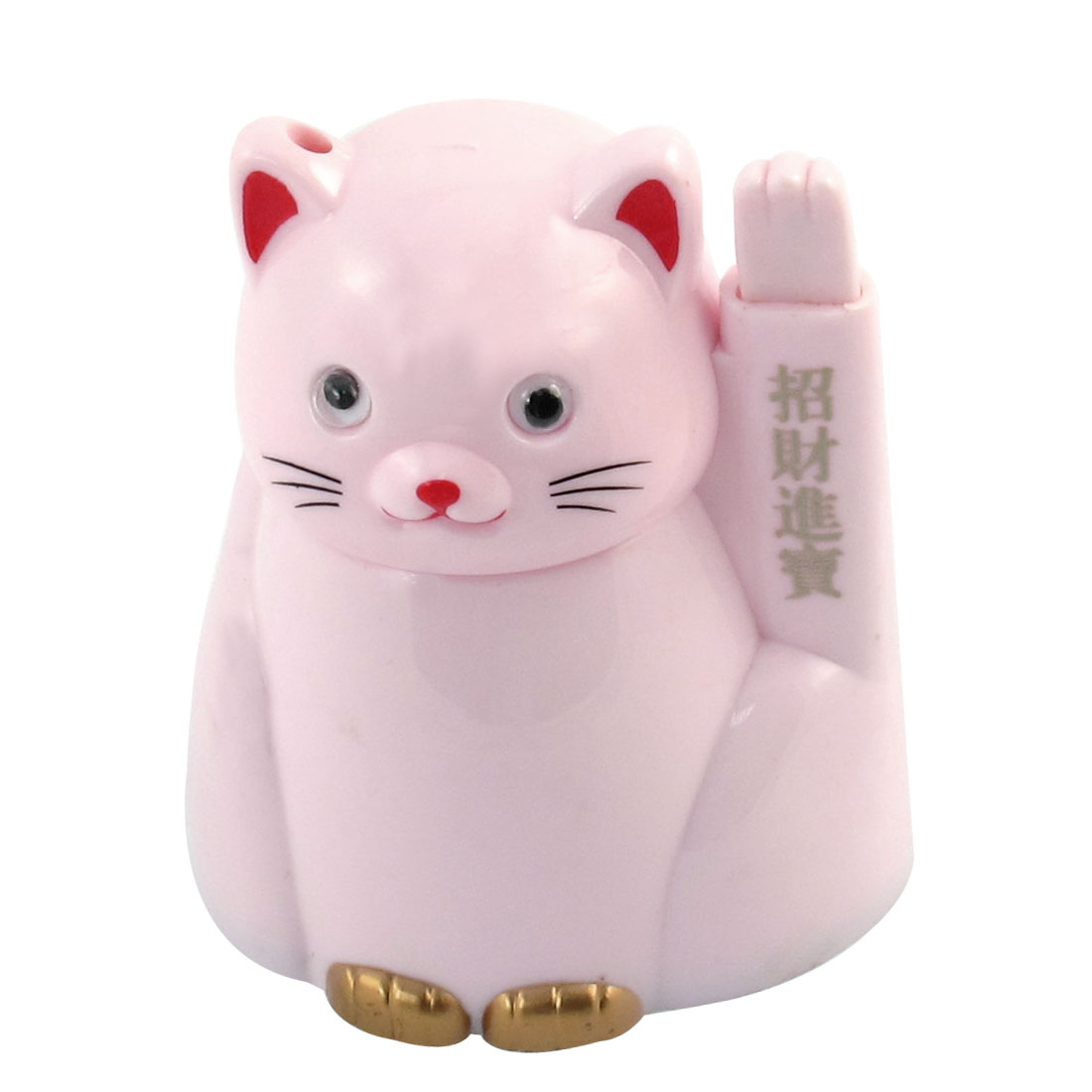 Pink Lucky Cats Shaped Popup Automatic Toothpick Stand Holder