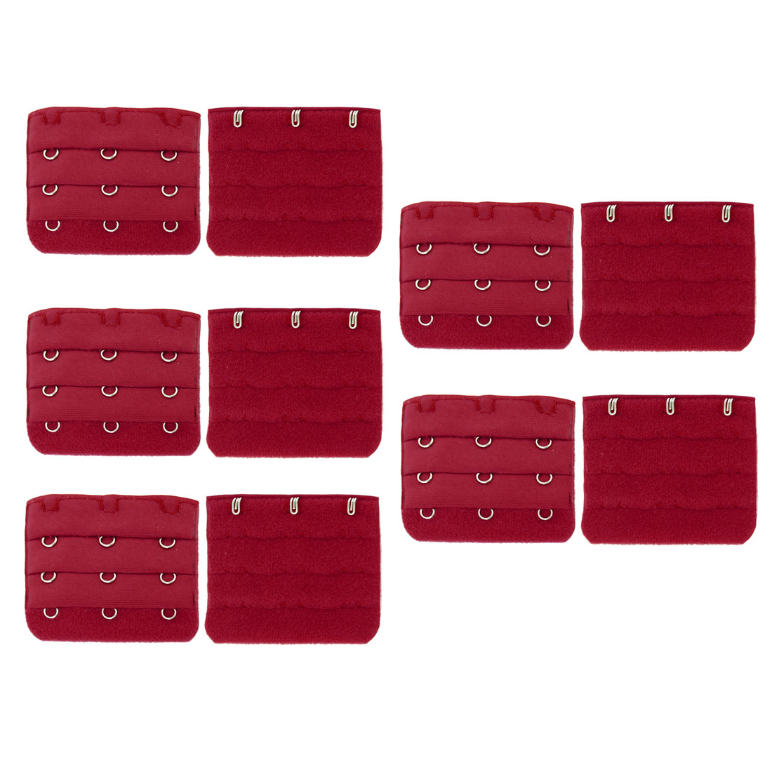 10 Pcs Lady 3 x 3 Hook Bra Extenders Strap Extension Dark Red