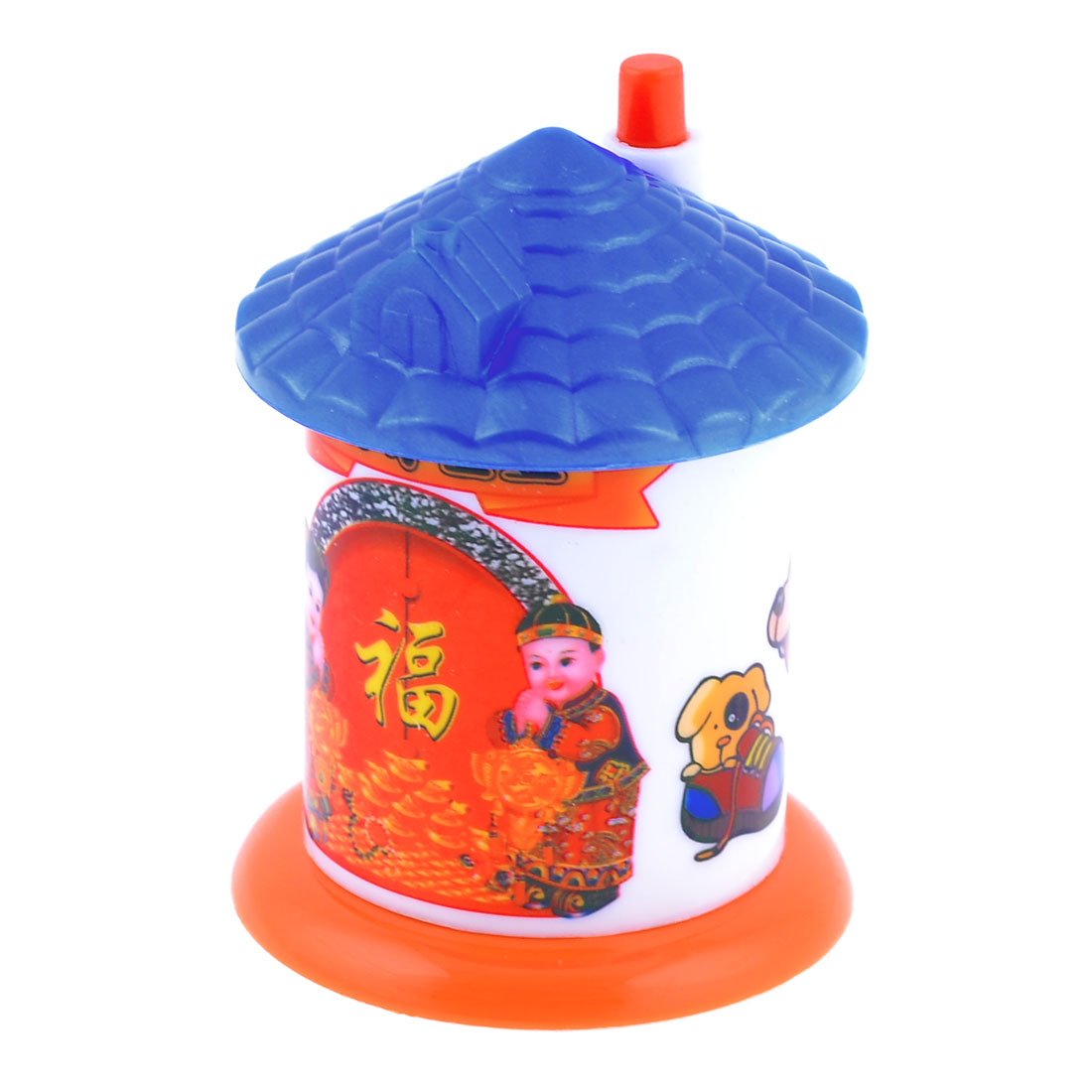 House Designed Shoes Pattern Automatic Toothpick Holder Box Blue Red