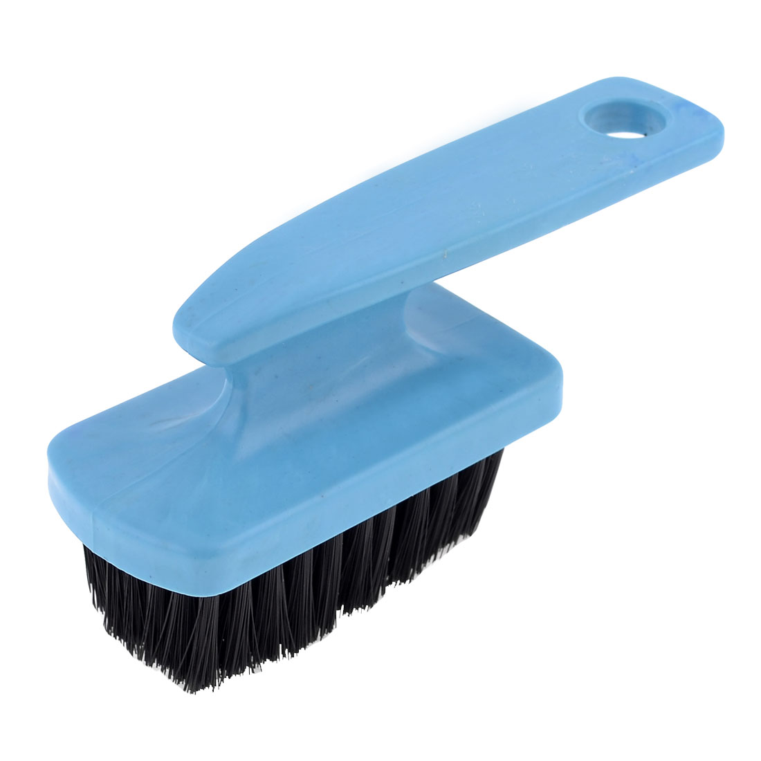 House Plastic Handgrip Shoes Scrub Mini Brush Cleaning Tool Blue