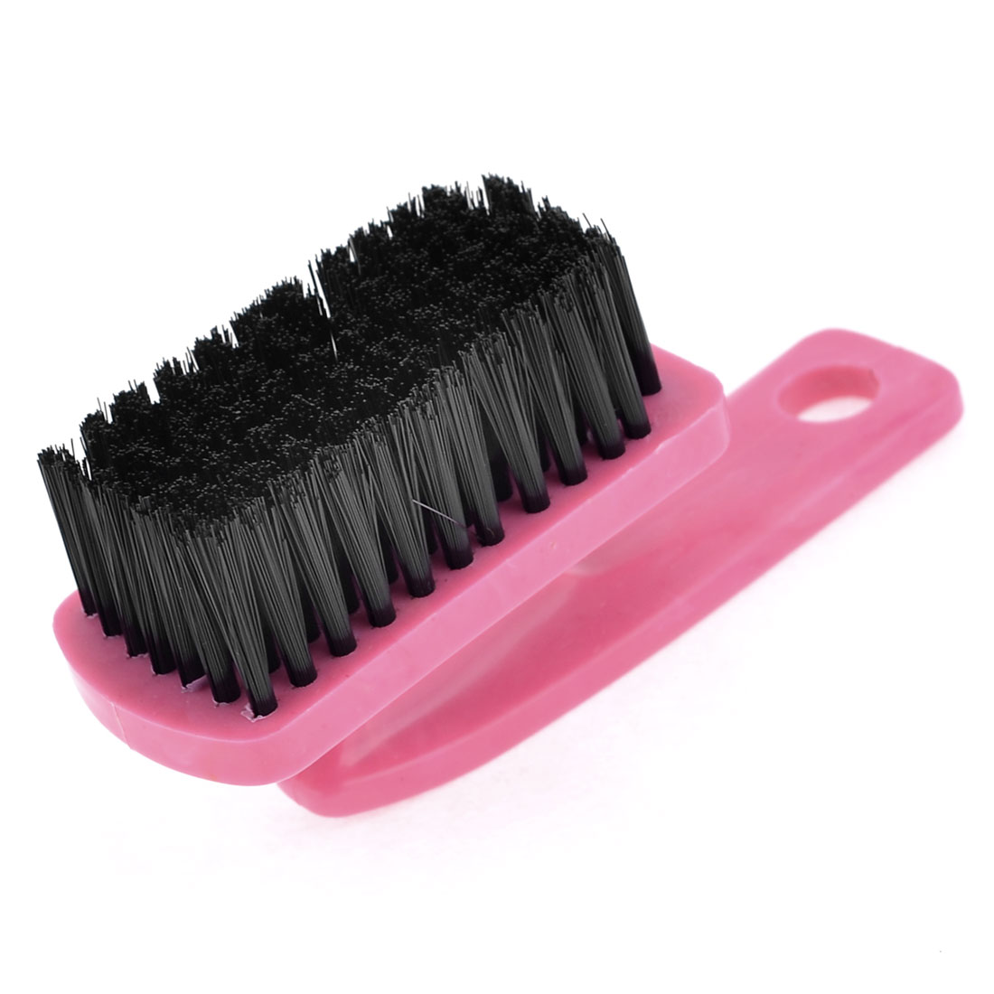 Home Straight Handle Shoes Washing Bristles Scrub Mini Brush Dark Pink