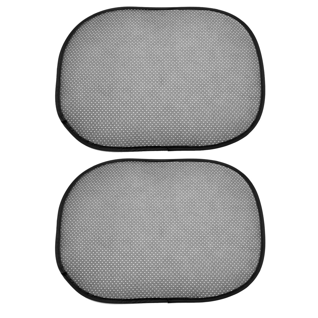 2 Pcs Car Nylon Mesh Window Sunshade Sun Shade Cover Black w Suction Cup