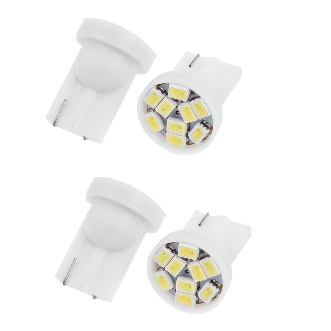 4pcs T10 White 9 LED 1206 SMD Dashboard Side Marker Light Bulb for Car