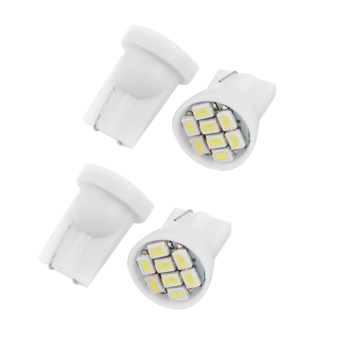 4 x T10 White 8 LED 1206 SMD Dashboard Signal Light Lamp Bulb for Car