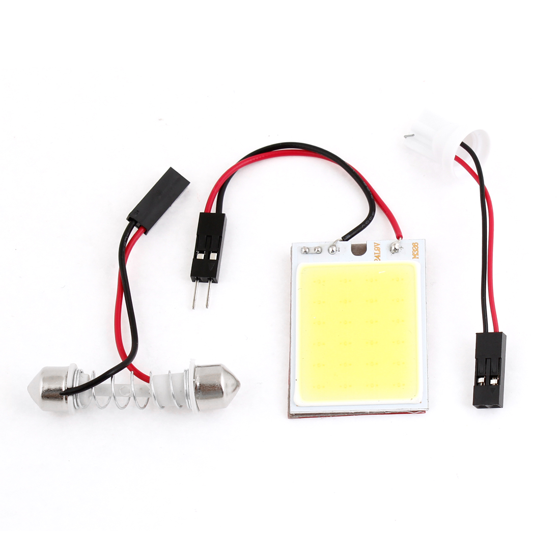 Auto Interior White 24 COB LED Map Dome Lamp Bulb Panel + T10 Festoon Adapter