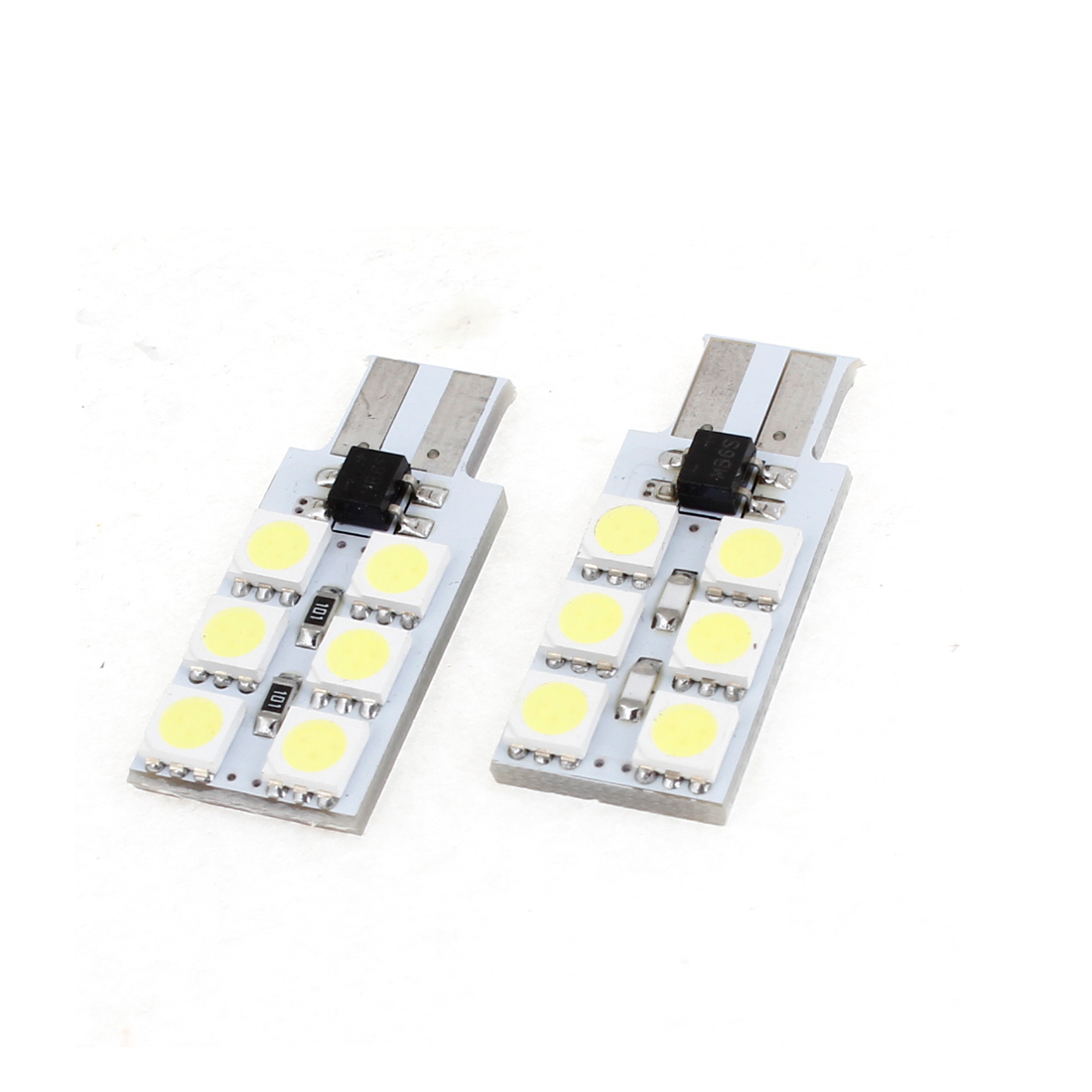 Car White 6 LED 5050 SMD Error Free Dash Instrument Board Light Bulb x 2