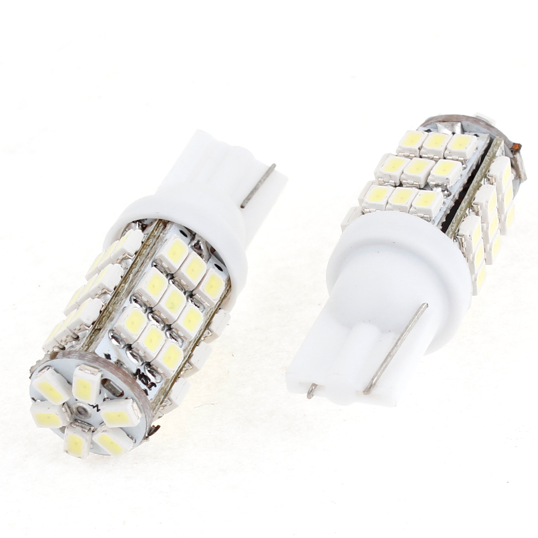 2 Pcs T10 White 42 LED 1206 SMD Dash Reverse Back up Light Bulb for Car