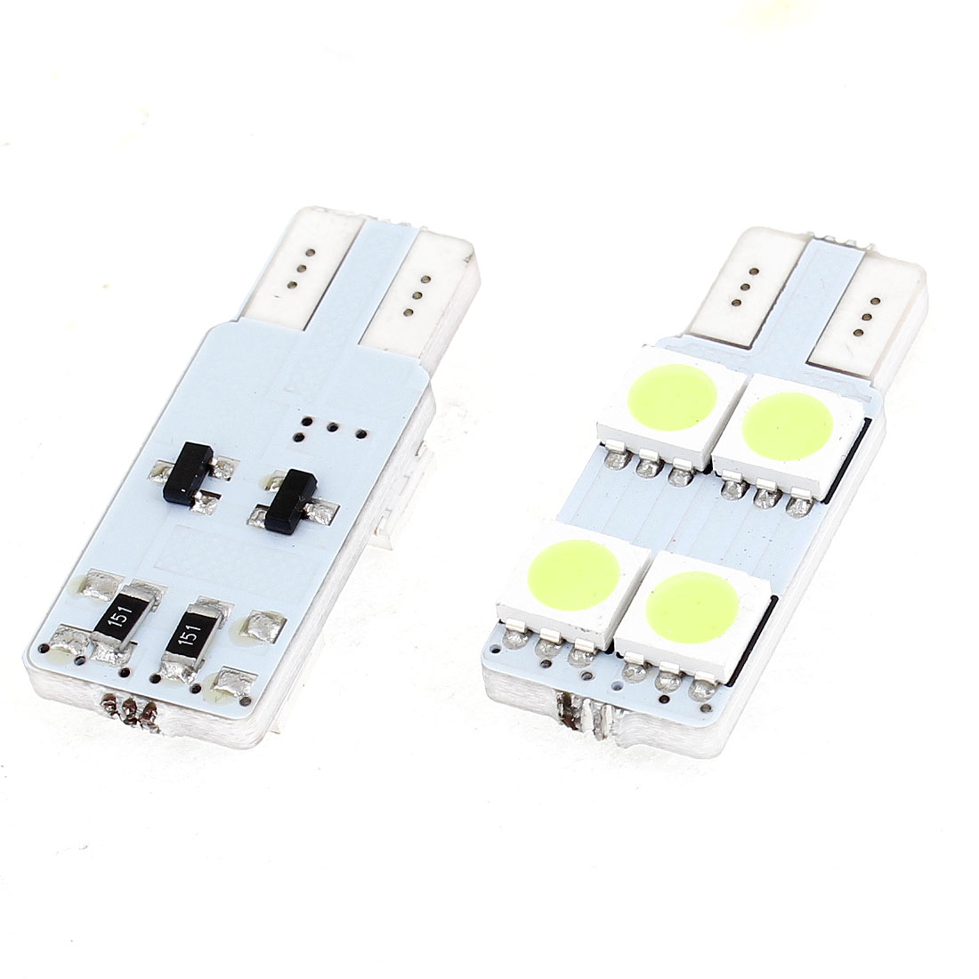 2 x No Error White 4 LED 5050 SMD Dashboard Gauge Panel Lamp Bulb for Auto