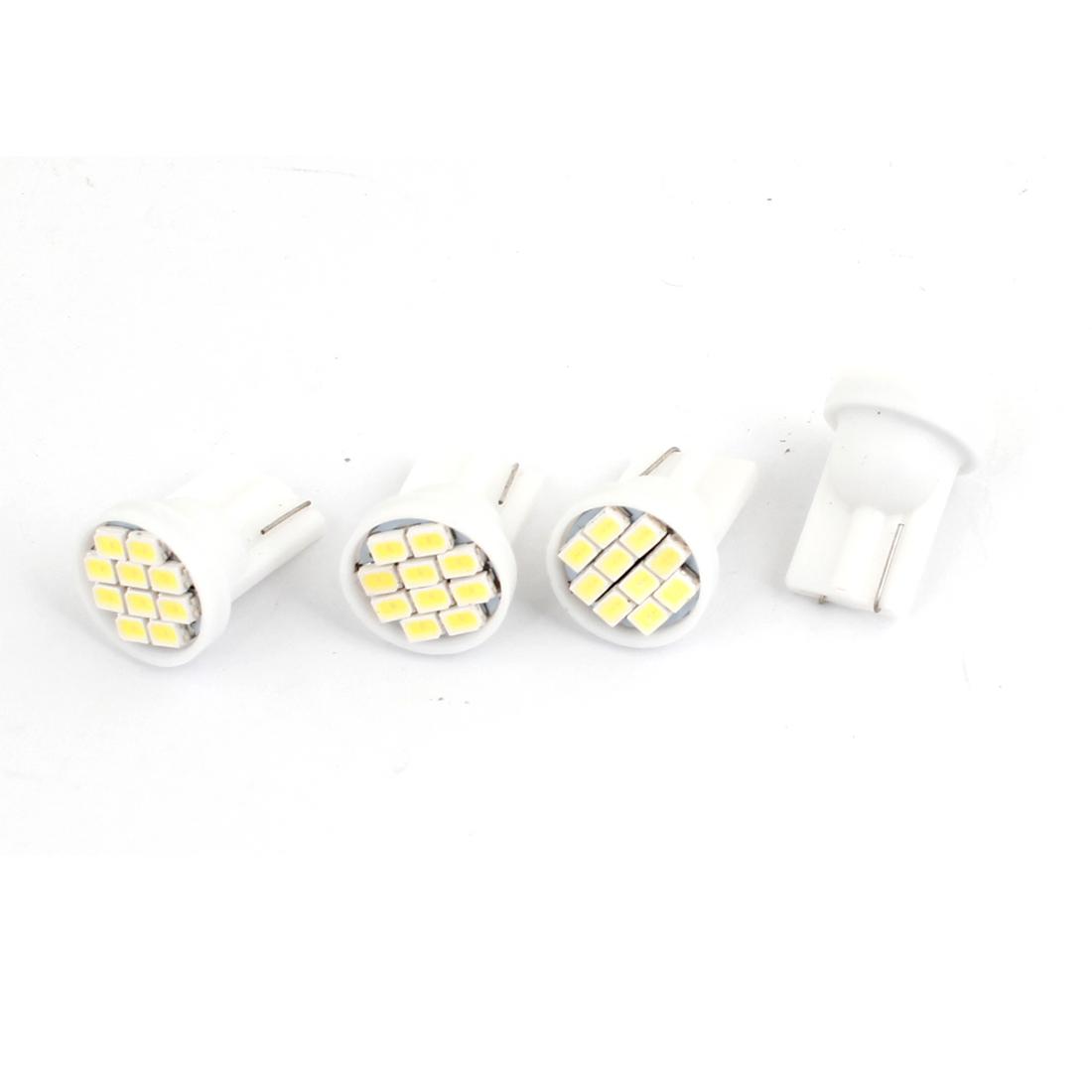 4pcs T10 White 10 LED 1206 SMD Dashboard Gauge Light Bulb for Car