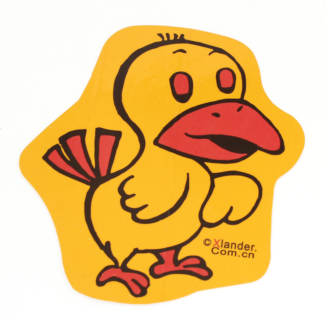 Yellow Red Chicken Design Decorative Sticker Decal for Car