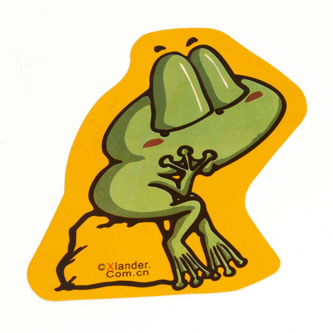 Vehicle Car Green Frog Design Exterior Sticker Ornament