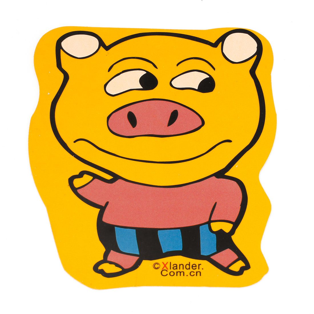 Yellow Pink Pig Shaped Sticker Decal for Car Exterior Decor