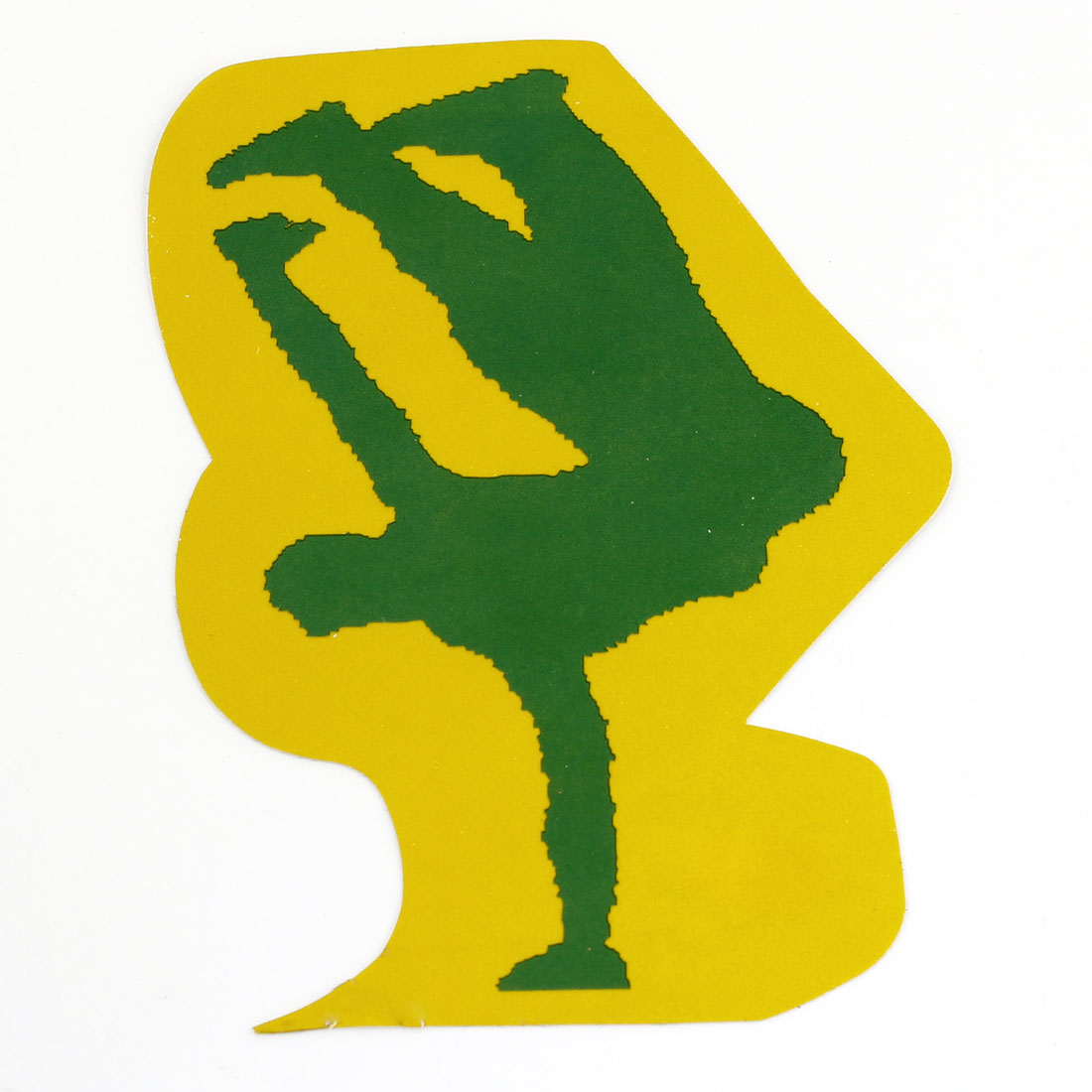 Car Dancer Design Self Adhesive Decals Sticker Decoration Green Yellow