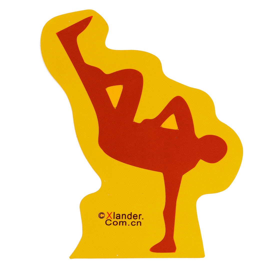 Dancing Men Design Self Adhesive Decals Sticker Decoration Red Yellow