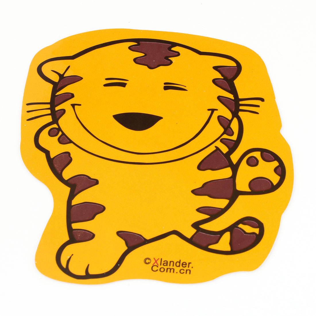 Adhesive Back Tiger Shape Decorative Sticker Yellow Brown for Auto