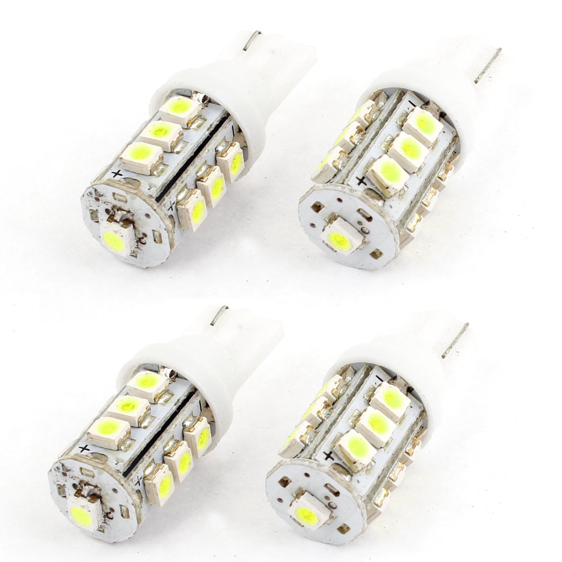 4 x T10 13 1210 3528 LED SMD Dash Instrument Light Bulb White for Auto