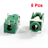 5 Pcs PCB Mount 5 Pin Terminals Female 3.5mm Audio Jack Socket Green