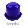 Hand Shaking Guess Games Tools Plastic Cup Box Royal Blue w 5 Dices