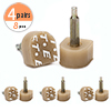 8 Pcs Tan Plastic Shoes High Heel Tips Taps 11mm x 10mm for Ladies