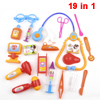 19 in 1 Child Fuchsia Orange Dark Yellow Injector Stethoscope Mini Hospital Toy