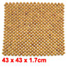Car Vehicle Accessories Wood Grain Multi Beads Connected Seat Cushion