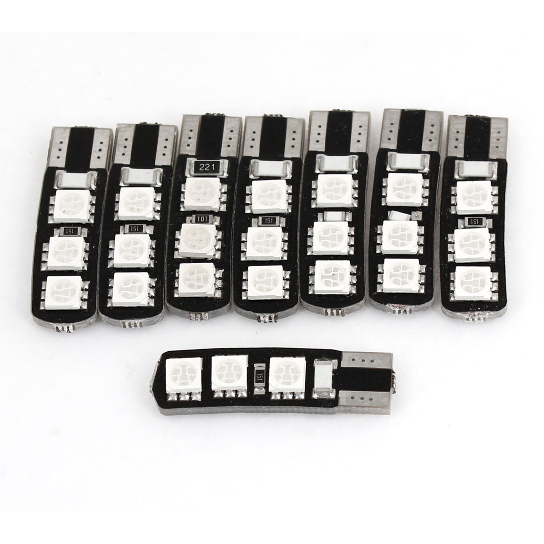 8PCS T10 Green 6 LED 5050 SMD Canbus Signal Dashboard Lamp Bulb for Car