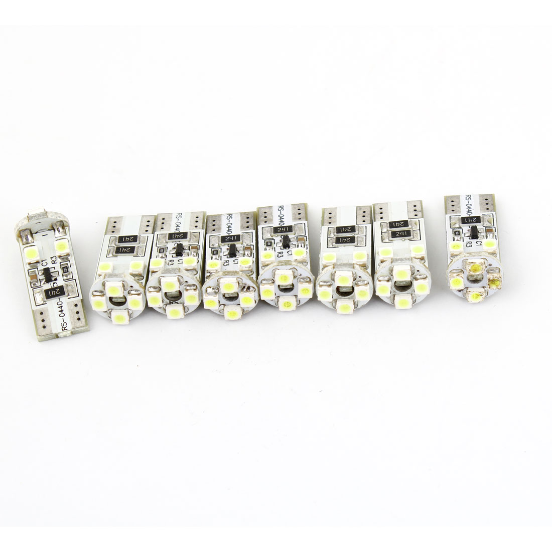 8 x Error Free T10 White 8 1210 3528 SMD LED Dashboard Turn Side Light Bulb