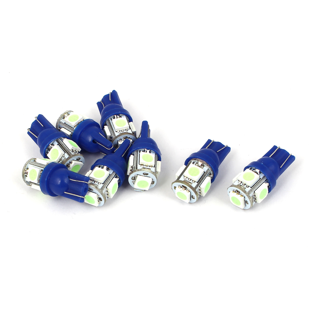 T10 5 5050 SMD LED Dome Map Dashboard Light Lamp Bulb Ice Blue 8pcs for Auto