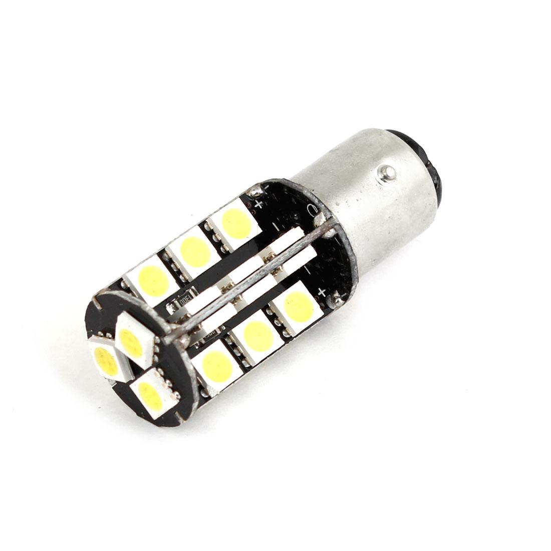 BAY15D 1157 White 27 LED 5050 Bulb Error Free Brake Light Bulb for Car