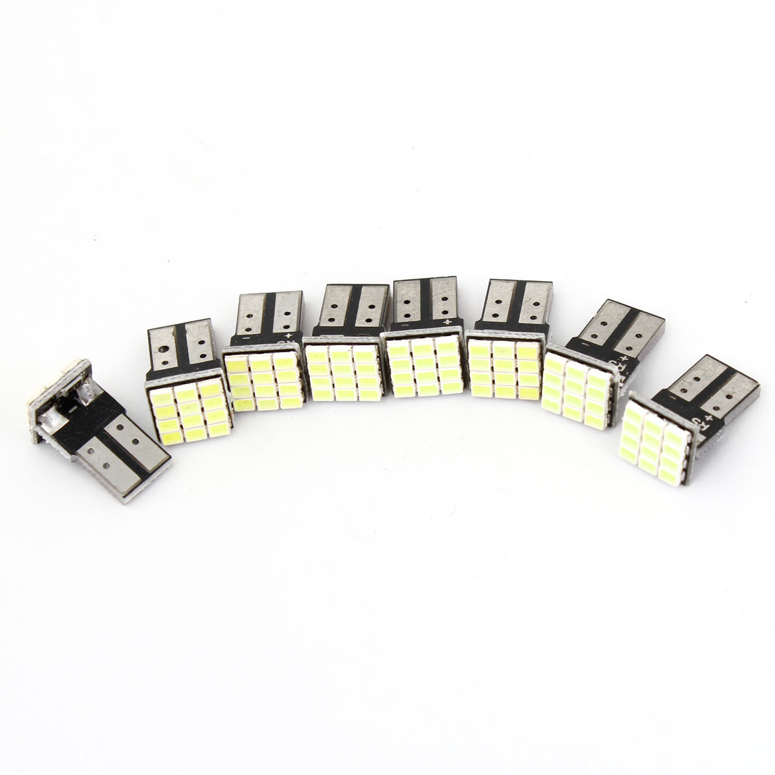 8PCS T10 White 12LED 1206 SMD Dashboard Turn Signal Light Lamp Bulb for Car
