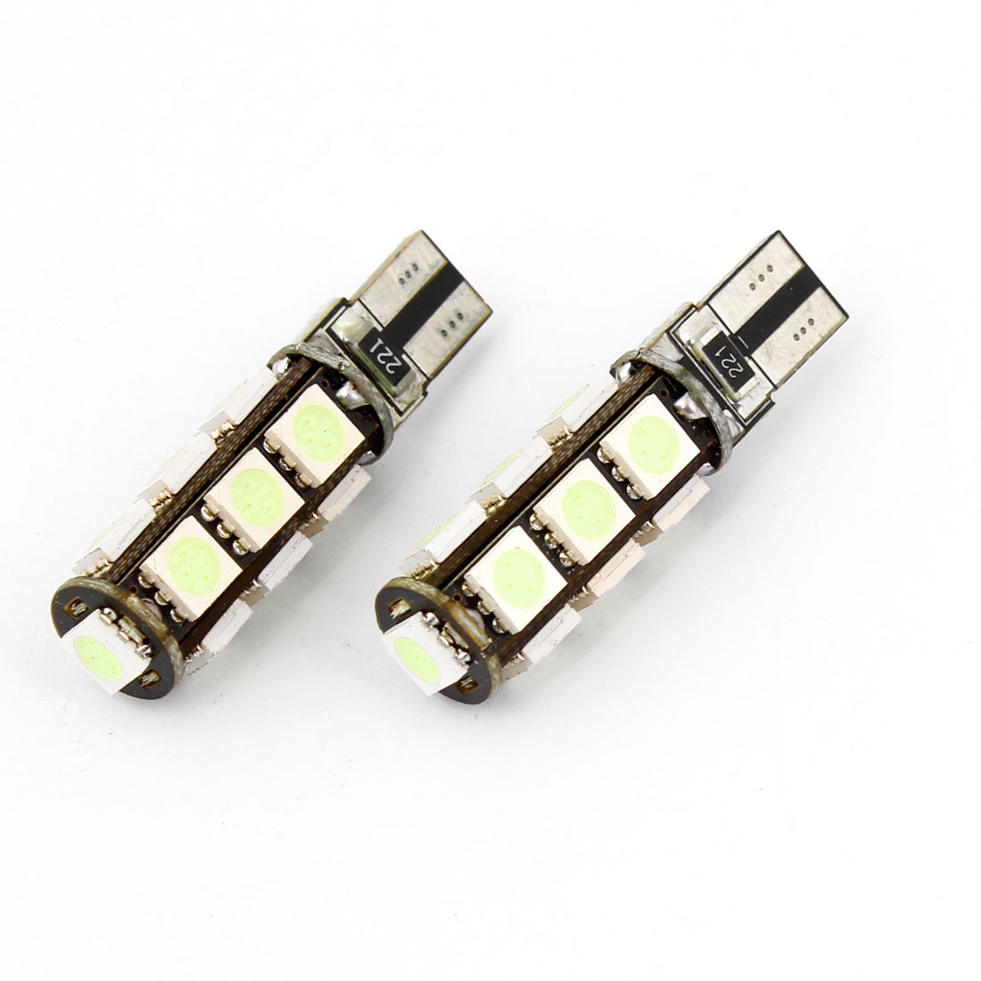 2PCS T10 Ice Blue 13 LED 5050 SMD No Error Dash Turn Signal Light Bulb for Car