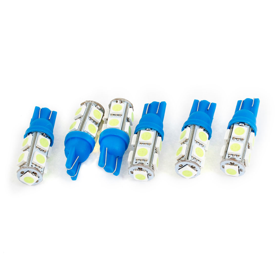 6PCS T10 Ice Blue 9 LED 5050 SMD Dashboard Side Marker Light Bulb for Car